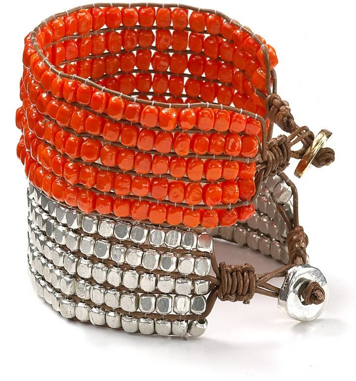Aqua Beaded Friendship Bracelet