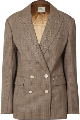 Hillier Bartley Checked Double-breasted Wool Blazer
