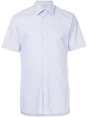 Gieves & Hawkes checked short-sleeves shirt