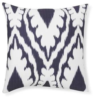 Williams-Sonoma Williams Sonoma Outdoor Printed Saint Tropez Ikat Pillow, Navy