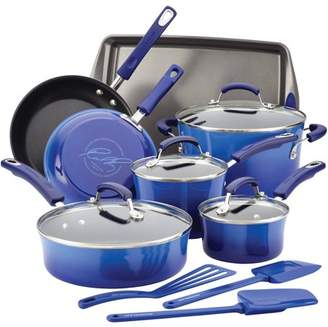 Rachael Ray Hard Enamel Nonstick 14-Piece Cookware Set