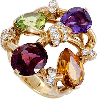 Chanel Heritage  18K Gold 12.21 Ct. Tw. Diamond & Gemstone Ring
