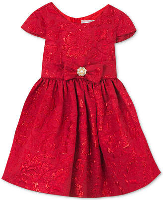 Rare Editions Baby Girls Brocade Fit & Flare Dress