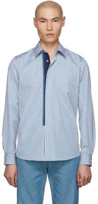 Dries Van Noten Blue and White Creagh-Tape Shirt