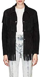 Isabel Marant Women's Abel Fringed Suede Jacket - Black