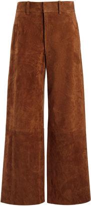 Joseph Suede Stretch Ferrandi Crop Trousers