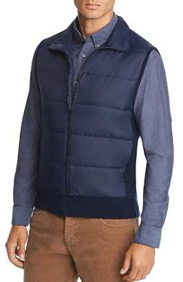 Bloomingdale's The Men's Store at Mixed-Media Vest - 100% Exclusive