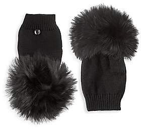 Bari Lynn Full Finger Rabbit Fur Gloves