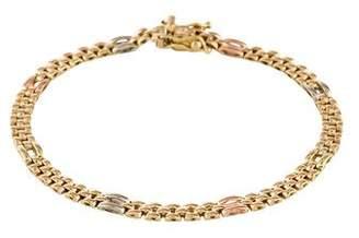 14K Tri-Tone Panther Link Bracelet