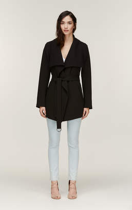 Soia & Kyo ORA straight fit low hip length coat with belt