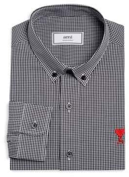 Ami Button Down Check Shirt