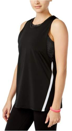 Jessica Simpson Womens The Warmup Layered Tank Top jetblack S - Juniors