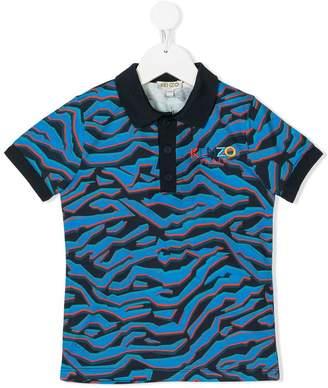 Kenzo graphic print polo shirt