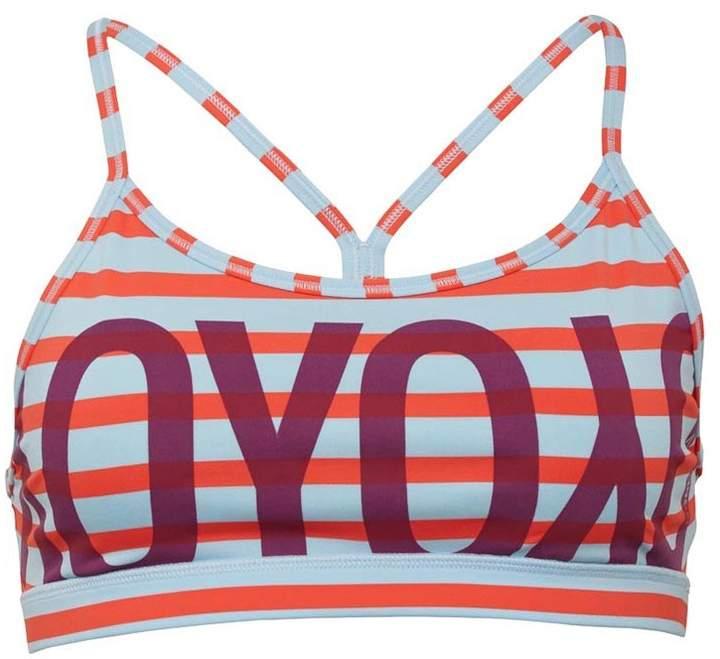Damen Yoga Speedwick Stripe Sports BH Rot