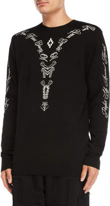 Marcelo Burlon County of Milan Leash Embroidered Sweater