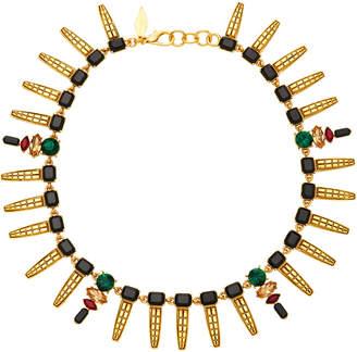 Nicole Romano Keystone Gold-Plated Crystal Necklace
