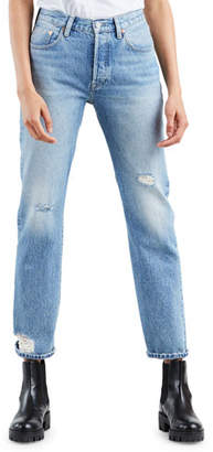 8221a02be5 Levi s 501 High-Rise Straight-Leg Cropped Jeans