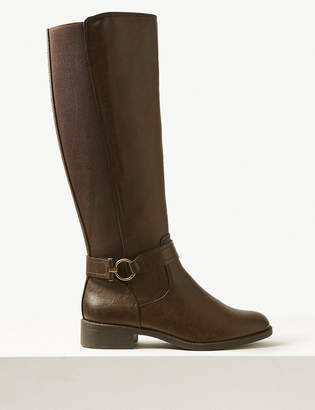 Marks and Spencer Elastic Back Rider Knee Boots
