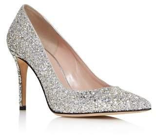 Kate Spade Women's Vivian Pointed Toe Glitter Leather High-Heel Pumps