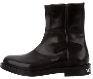 Vetements x Church's Polished Leather Logo Ankle Boots w/ Tags