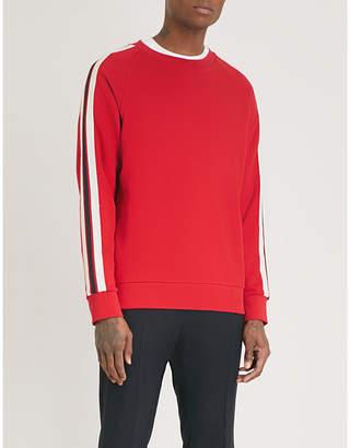 Sandro Striped-sleeve cotton sweatshirt