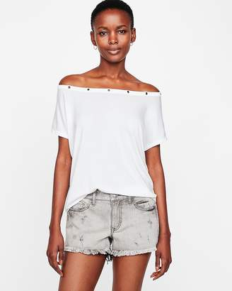 Express Low Rise Distressed Denim Cutoff Original Shorts