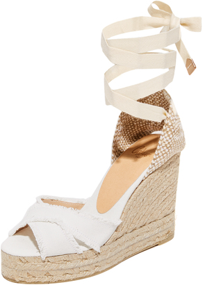 Castaner Fringed Canvas Wedges $155 thestylecure.com