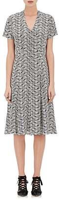 Derek Lam Women's Abstract-Diamond-Print A-Line Dress $995 thestylecure.com