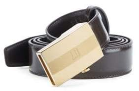Dunhill Smooth Leather Facet Belt