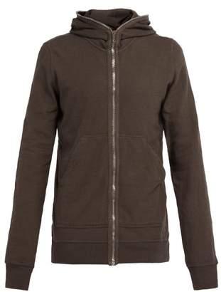 Rick Owens Gimp Zip Through Cotton Hooded Sweatshirt - Mens - Black