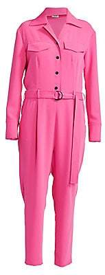 Kenzo Women's Belted Crepe Jumpsuit