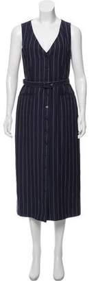Gabriela Hearst Linen Pinstripe Button- Up Dress w/ Tags