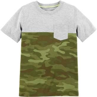 Carter's Boys 4-12 Camouflaged Pocket Tee