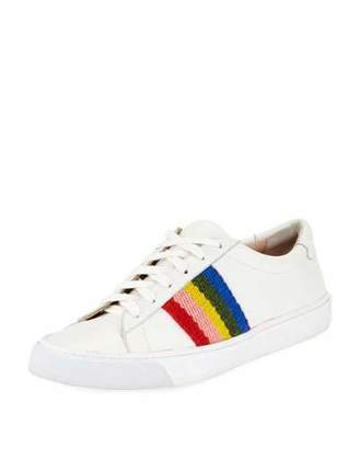 Loeffler Randall Logan Rainbow Leather Low-Top Sneakers