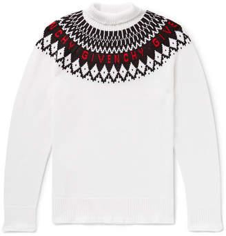 Givenchy Logo-Intarsia Wool Rollneck Sweater - Men - White