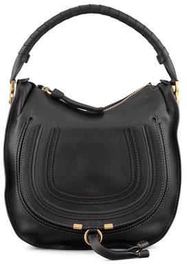 Chloé Marcie Medium Hobo Bag, Black