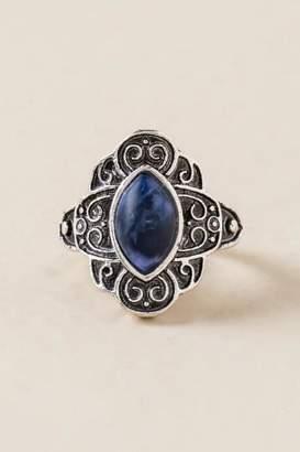 Skylar Lapis Stone Ring - Silver