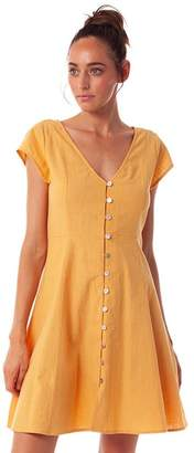 rhythm Mid-Length Yellow Dress