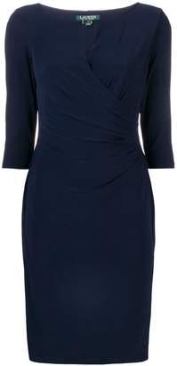Lauren Ralph Lauren keyhole stretch dress
