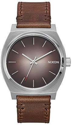 Nixon Men's 'Time Teller' Quartz Stainless Steel and Leather Casual Watch