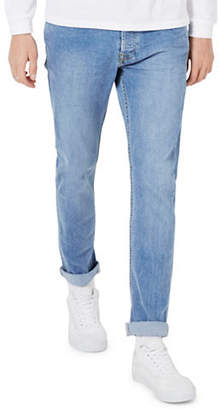 Topman Vintage Wash Stretch Slim Jeans