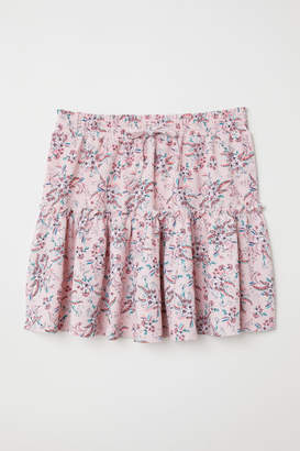 H&M Patterned Jersey Skirt - Pink
