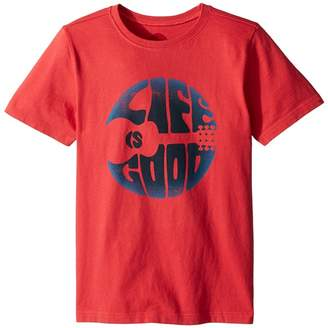 Life is Good Groovy Guitar Crusher Tee Boy's T Shirt
