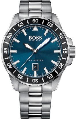 HUGO BOSS 1513230 deep ocean stainless steel watch $245 thestylecure.com