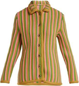 Miu Miu Striped wool cardigan