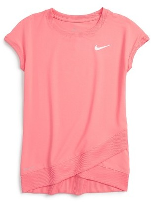 Toddler Girl's Nike Sport Essentials Dri-Fit Tee $30 thestylecure.com