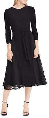 Ralph Lauren Satin-Trimmed Dress