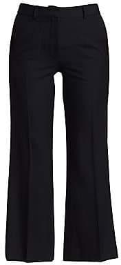 Victoria Beckham Women's Cropped Kick Wool Trousers