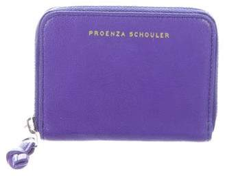 Proenza Schouler Leather Zip-Around Card Holder