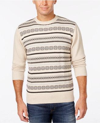 Weatherproof Men's Fair Isle Sweater, Classic Fit $80 thestylecure.com